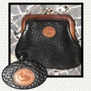 Vintage Dooney & Bourke Black Leather Coinpurse